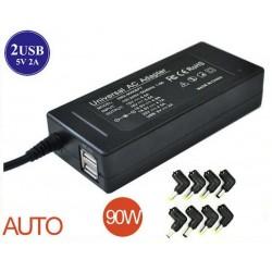 Universal Adapter power carg. 15V-20V max 90W 2USB 8 tips